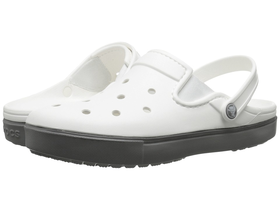 Crocs - CitiLane Clog (White/Smoke) Clog Shoes