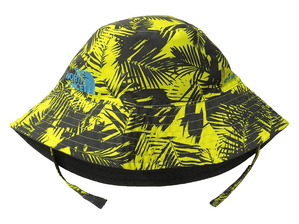 The North Face Kids - Baby Sun Bucket 13 (Infant) (Sulphur Spring Green Palm Print) Bucket Caps