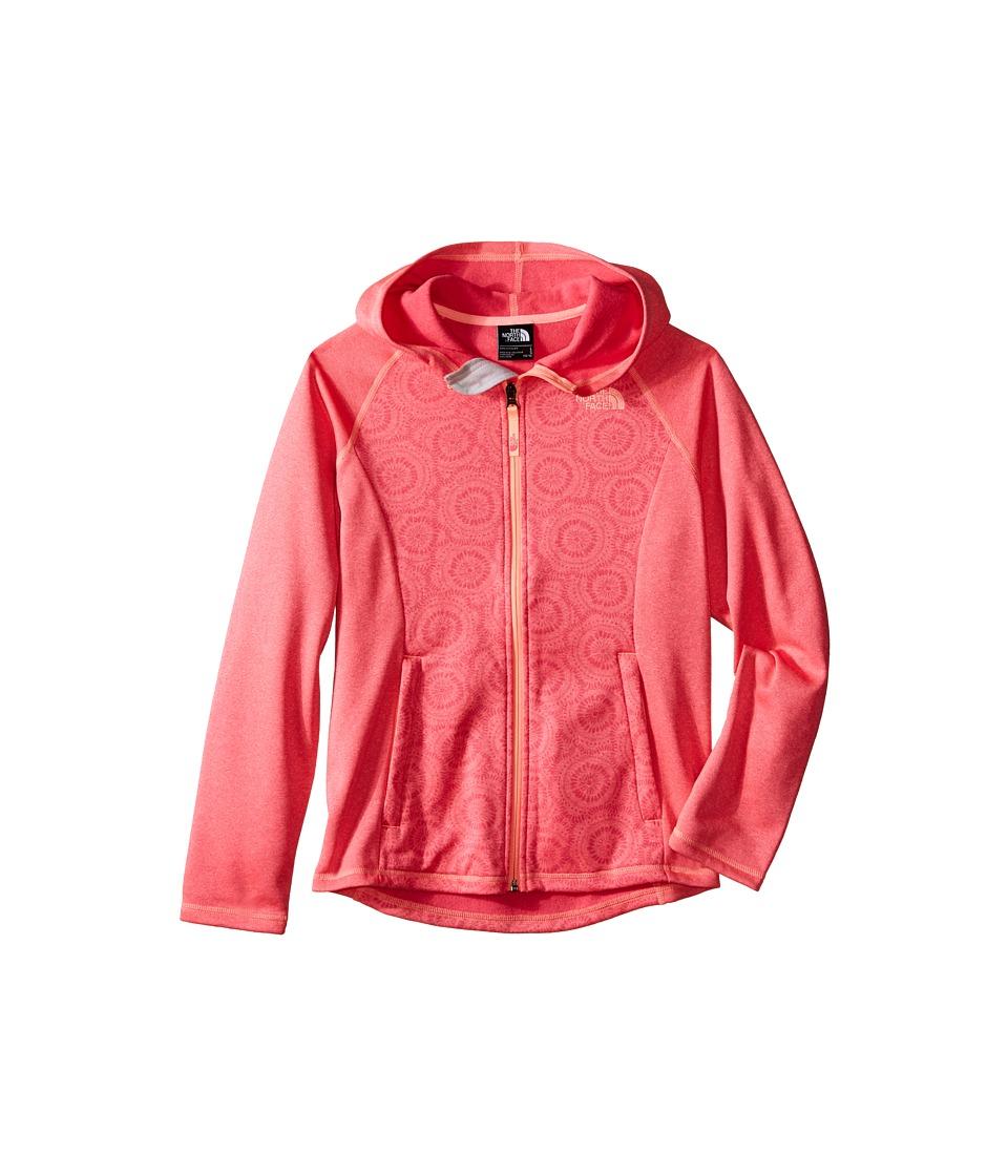 The North Face Kids - Seashore Fleece Hoodie (Little Kids/Big Kids) (Cha Cha Pink Sand Dollar Print (Prior Season)) Girl's Sweatshirt