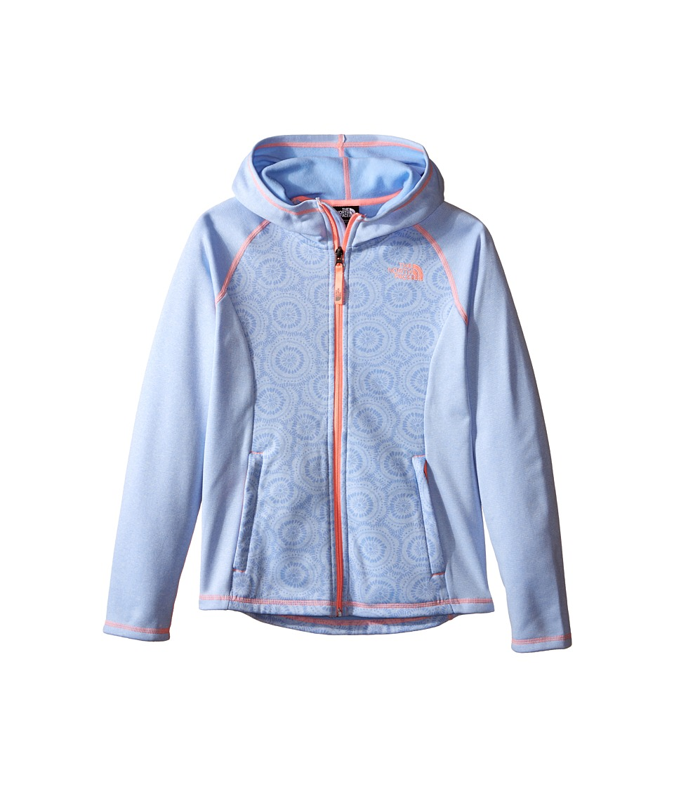 The North Face Kids - Seashore Fleece Hoodie (Little Kids/Big Kids) (Collar Blue Sand Dollar Print) Girl's Sweatshirt