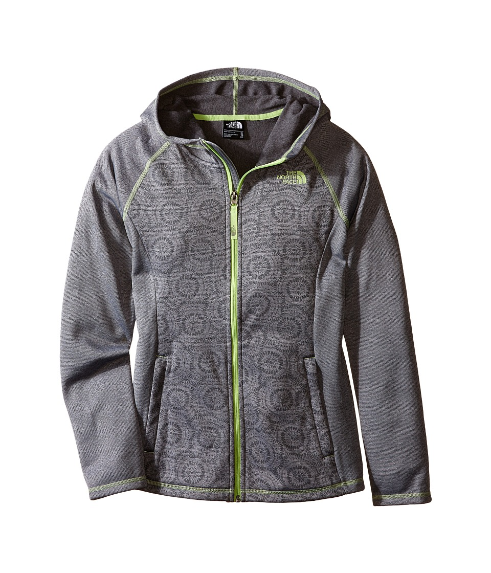 The North Face Kids - Seashore Fleece Hoodie (Little Kids/Big Kids) (Mid Grey Sand Dollar Print) Girl's Sweatshirt