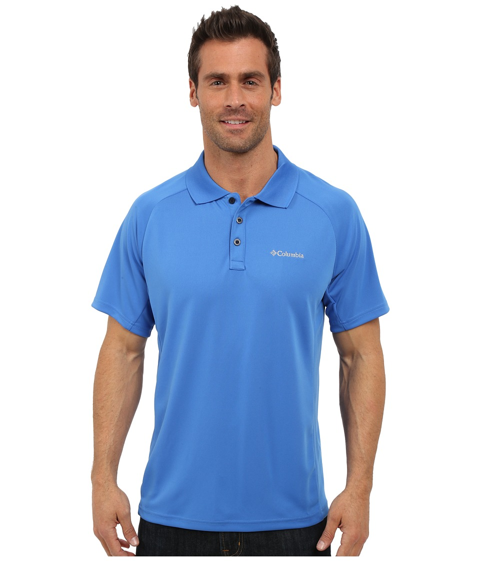 Columbia - Blasting Cool Polo II (Pacific Blue) Men's Clothing