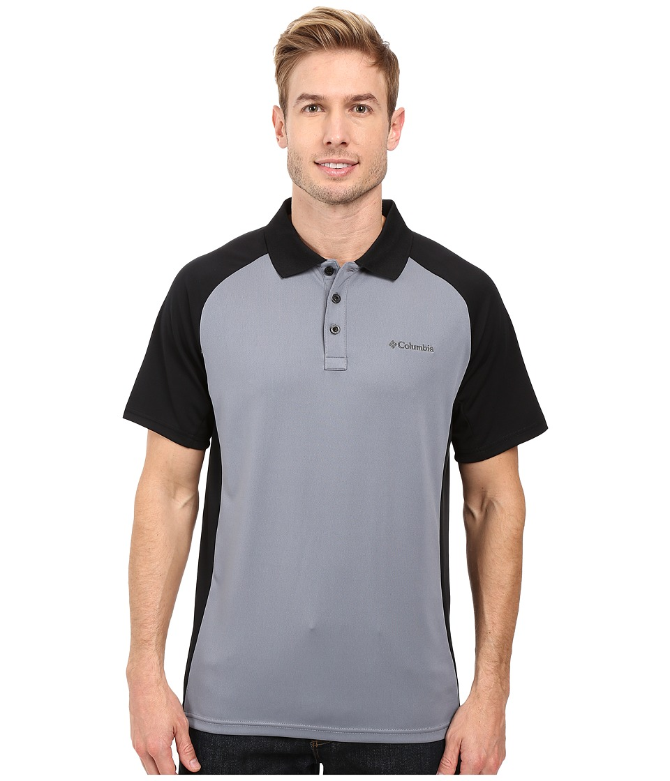 Columbia - Blasting Cool Polo II (Grey Ash/Black) Men's Clothing