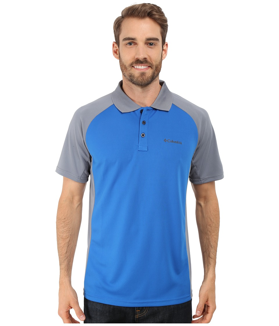 Columbia - Blasting Cool Polo II (Super Blue/Grey Ash) Men's Clothing