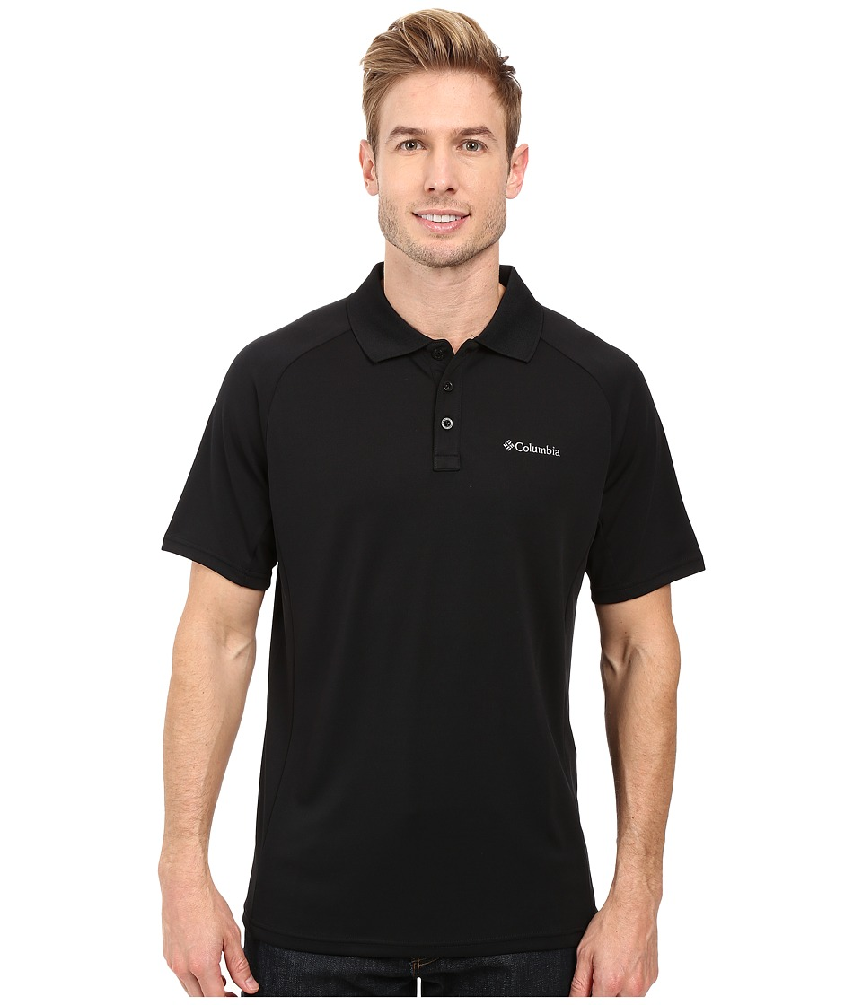 Columbia - Blasting Cool Polo II (Black) Men's Clothing