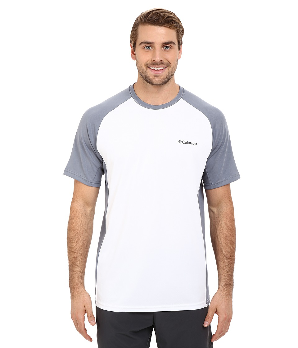 Columbia - Blasting Cool Crew II (White/Grey Ash) Men's Clothing