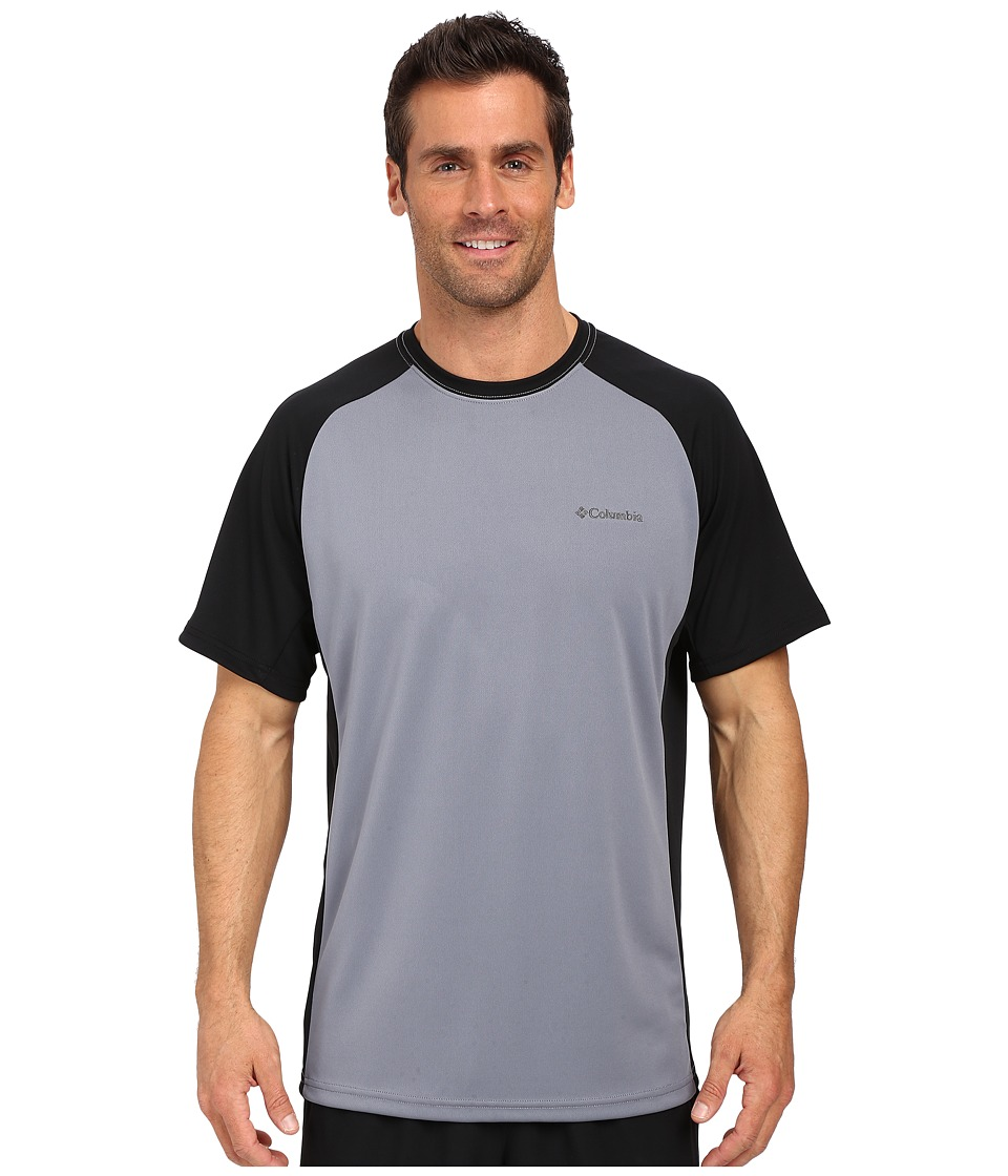 Columbia - Blasting Cool Crew II (Grey Ash/Black) Men's Clothing