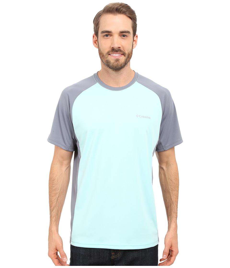 Columbia - Blasting Cool Crew II (Ocean Water/Grey Ash) Men's Clothing