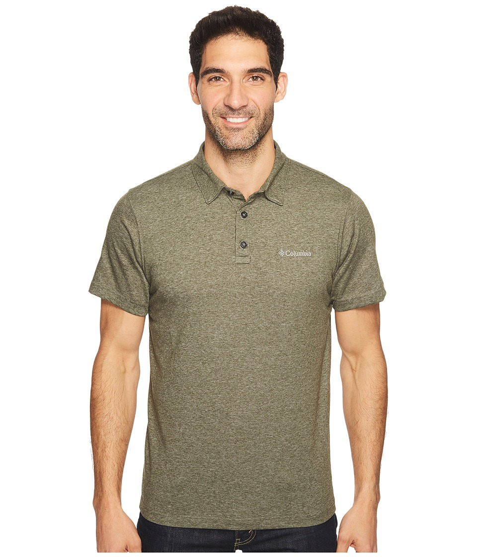 Columbia - Thistletown Park Polo II (Surplus Green Heather) Men's Clothing