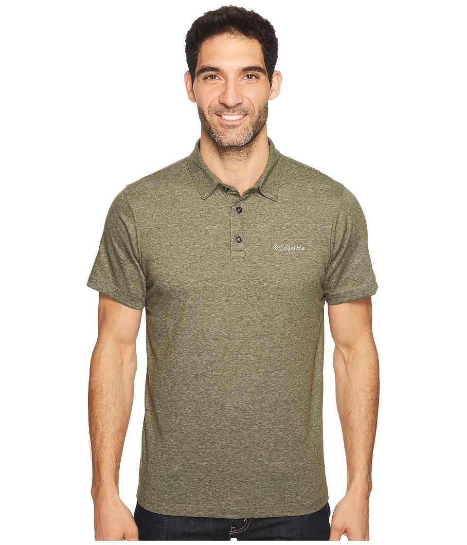 Columbia - Thistletown Park Polo II (Surplus Green Heather) Men's Clothing