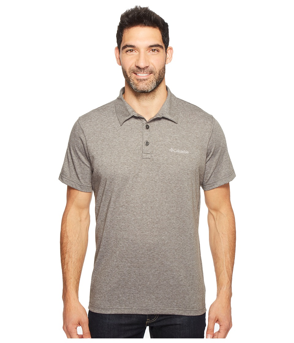 Columbia - Thistletown Park Polo II (Grill Heather) Men's Clothing