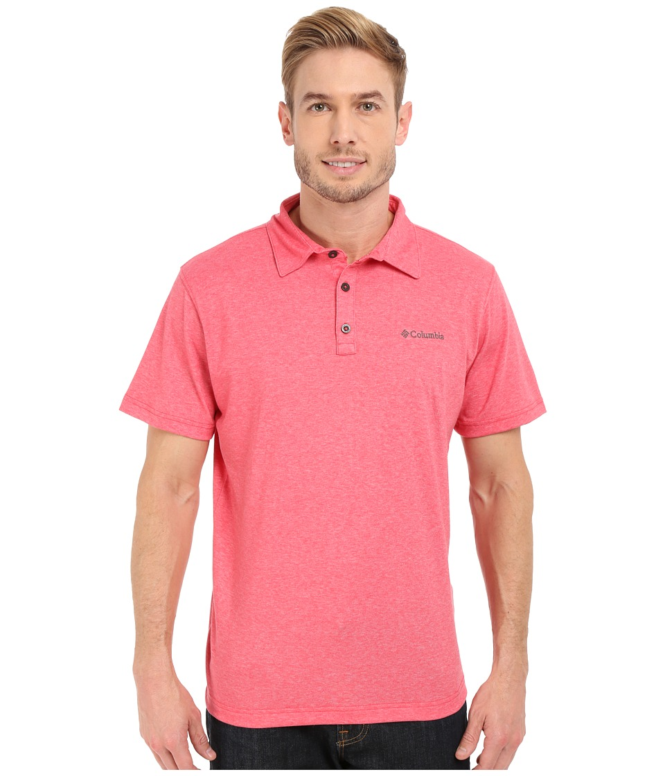 Columbia - Thistletown Park Polo II (Sunset Red Heather) Men's Clothing