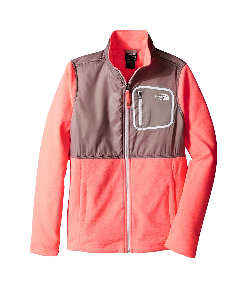 The North Face Kids - Glacier Track Jacket (Little Kids/Big Kids) (Neon Peach) Girl's Coat