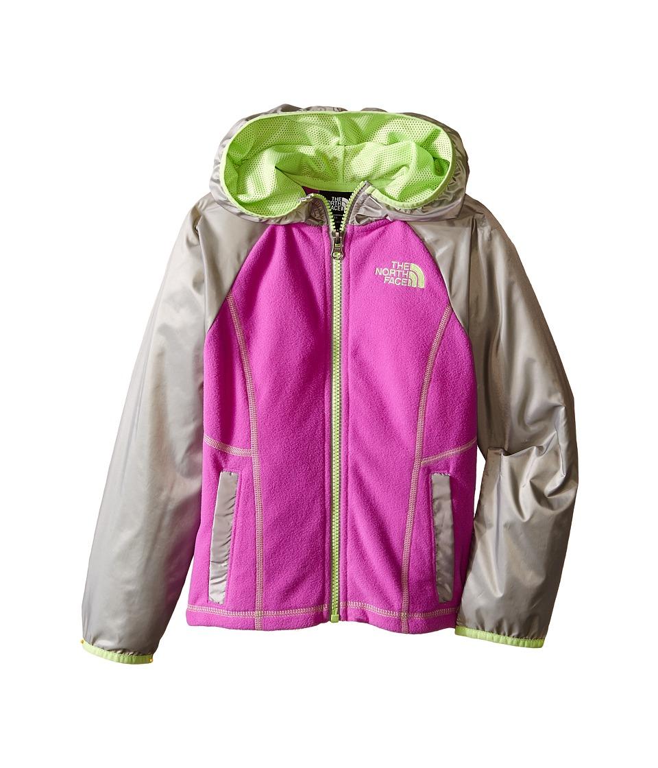 The North Face Kids - Glacier Track Full Zip Hoodie (Little Kids/Big Kids) (Sweet Violet (Prior Season)) Girl's Sweatshirt