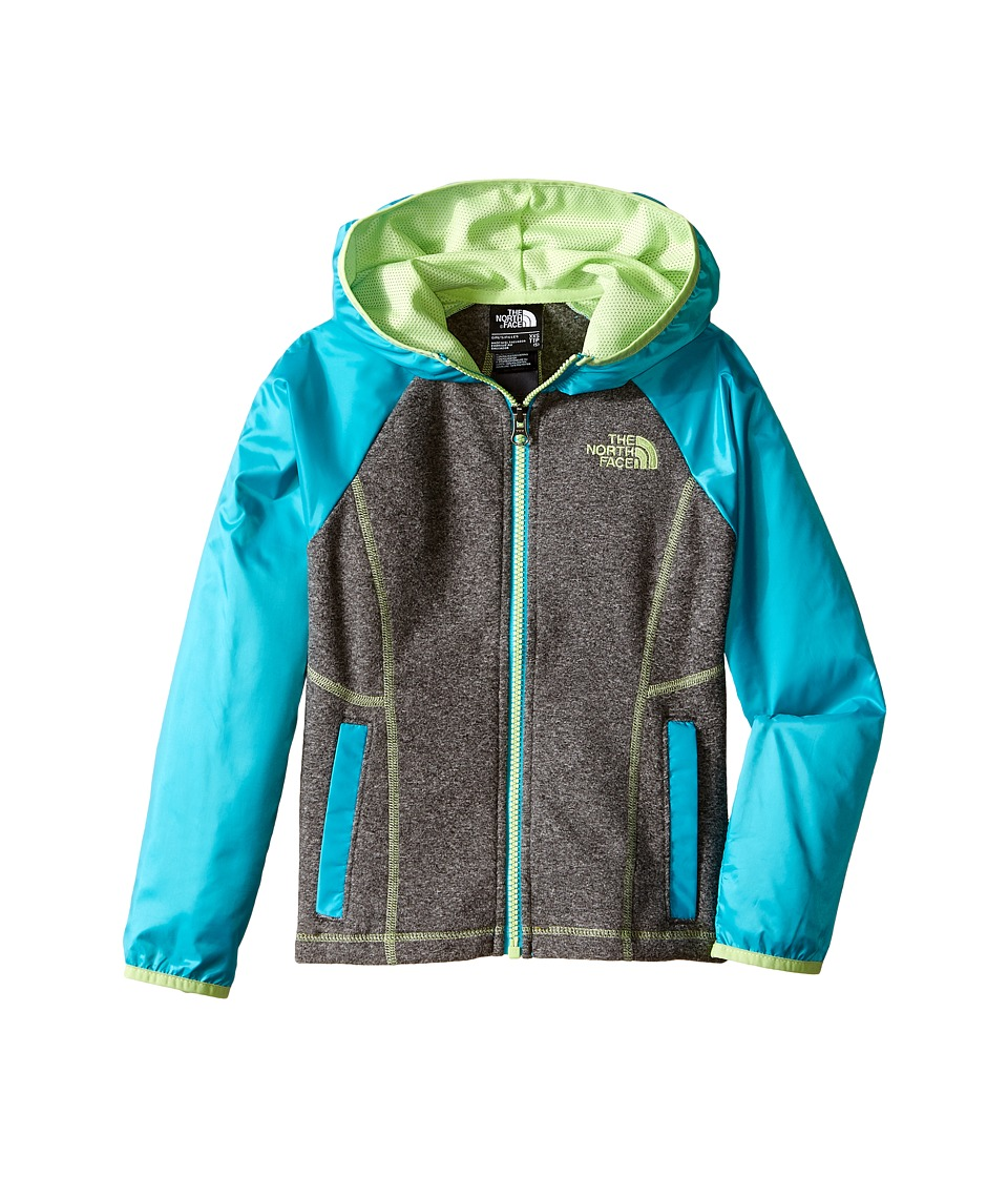 The North Face Kids - Glacier Track Full Zip Hoodie (Little Kids/Big Kids) (TNF Medium Grey Heather) Girl's Sweatshirt