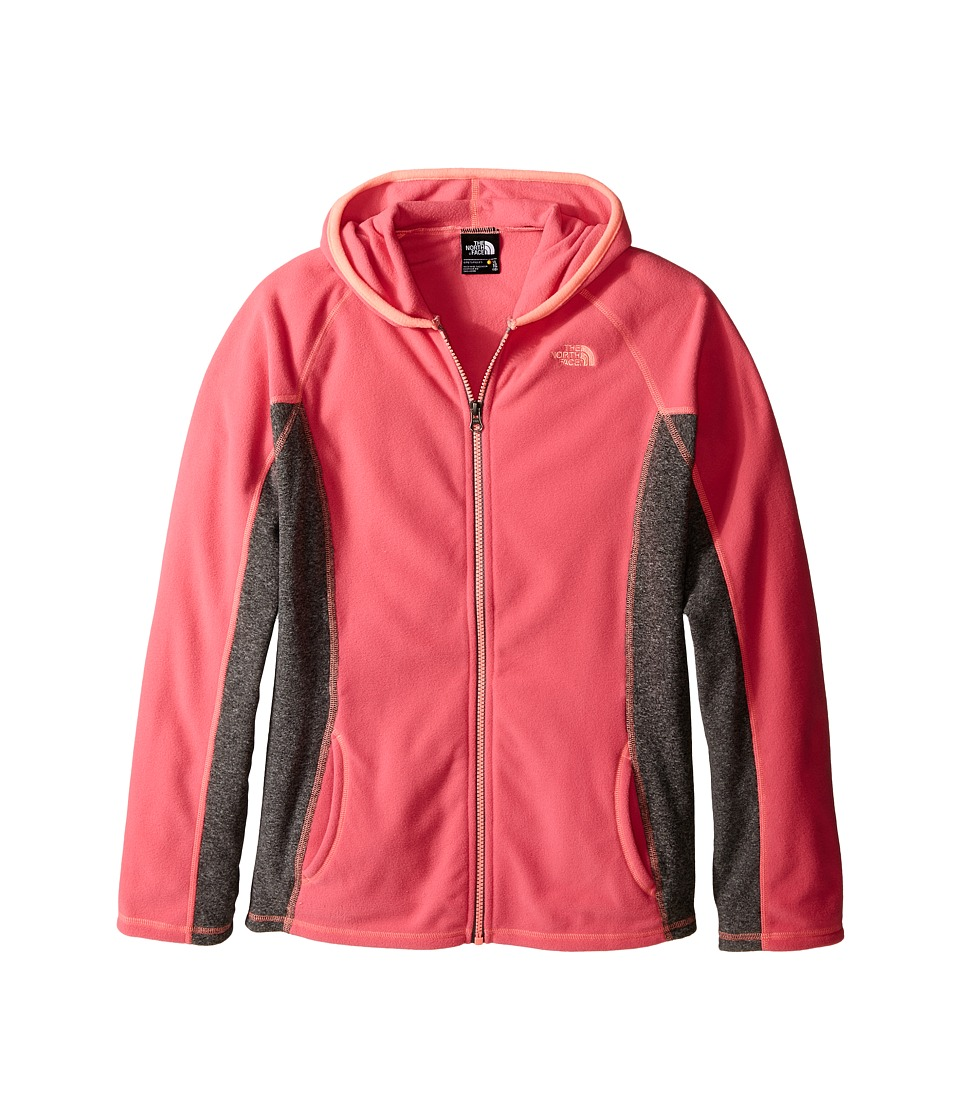 The North Face Kids - Glacier Full Zip Hoodie (Little Kids/Big Kids) (Cha Cha Pink) Girl's Sweatshirt