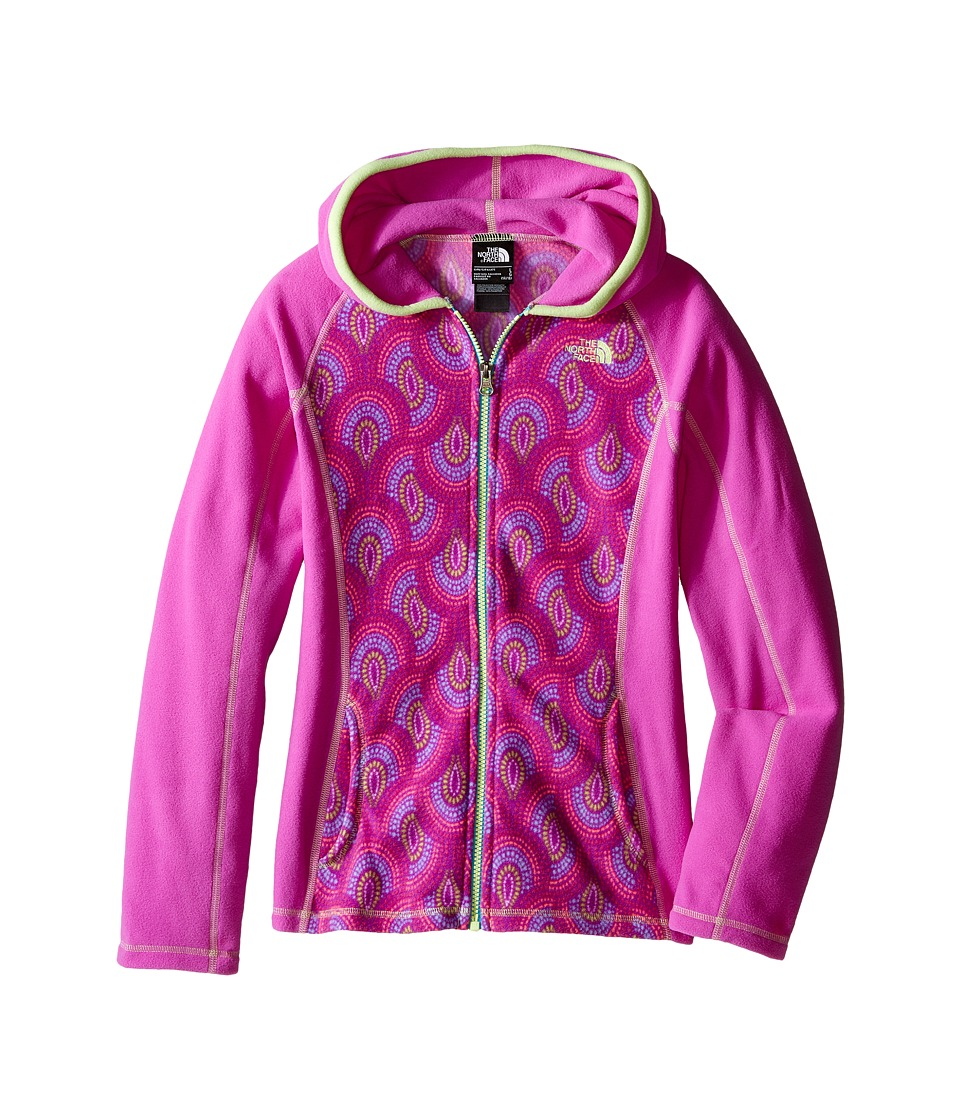 The North Face Kids - Glacier Full Zip Hoodie (Little Kids/Big Kids) (Sweet Violet Peacock Print) Girl's Sweatshirt