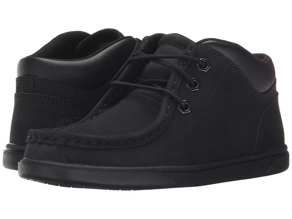 Timberland Kids - Groveton Leather Moc Toe (Little Kid) (Black) Boy's Shoes
