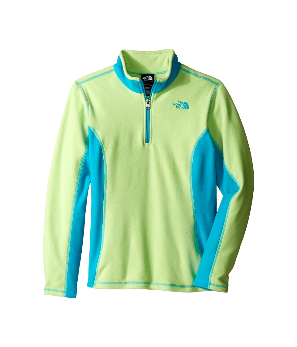 The North Face Kids - Glacier 1/4 Zip (Little Kids/Big Kids) (Budding Green) Girl's Sweatshirt