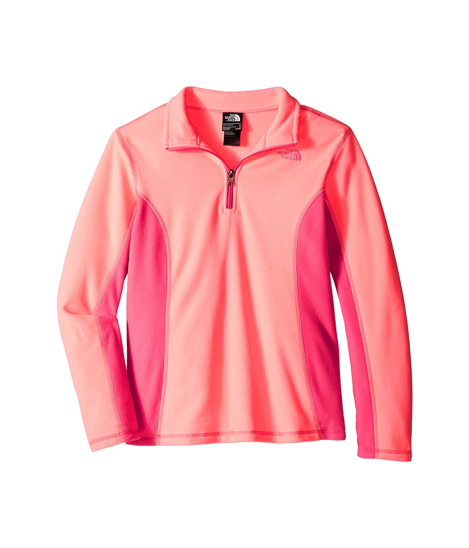 The North Face Kids - Glacier 1/4 Zip (Little Kids/Big Kids) (Neon Peach) Girl's Sweatshirt