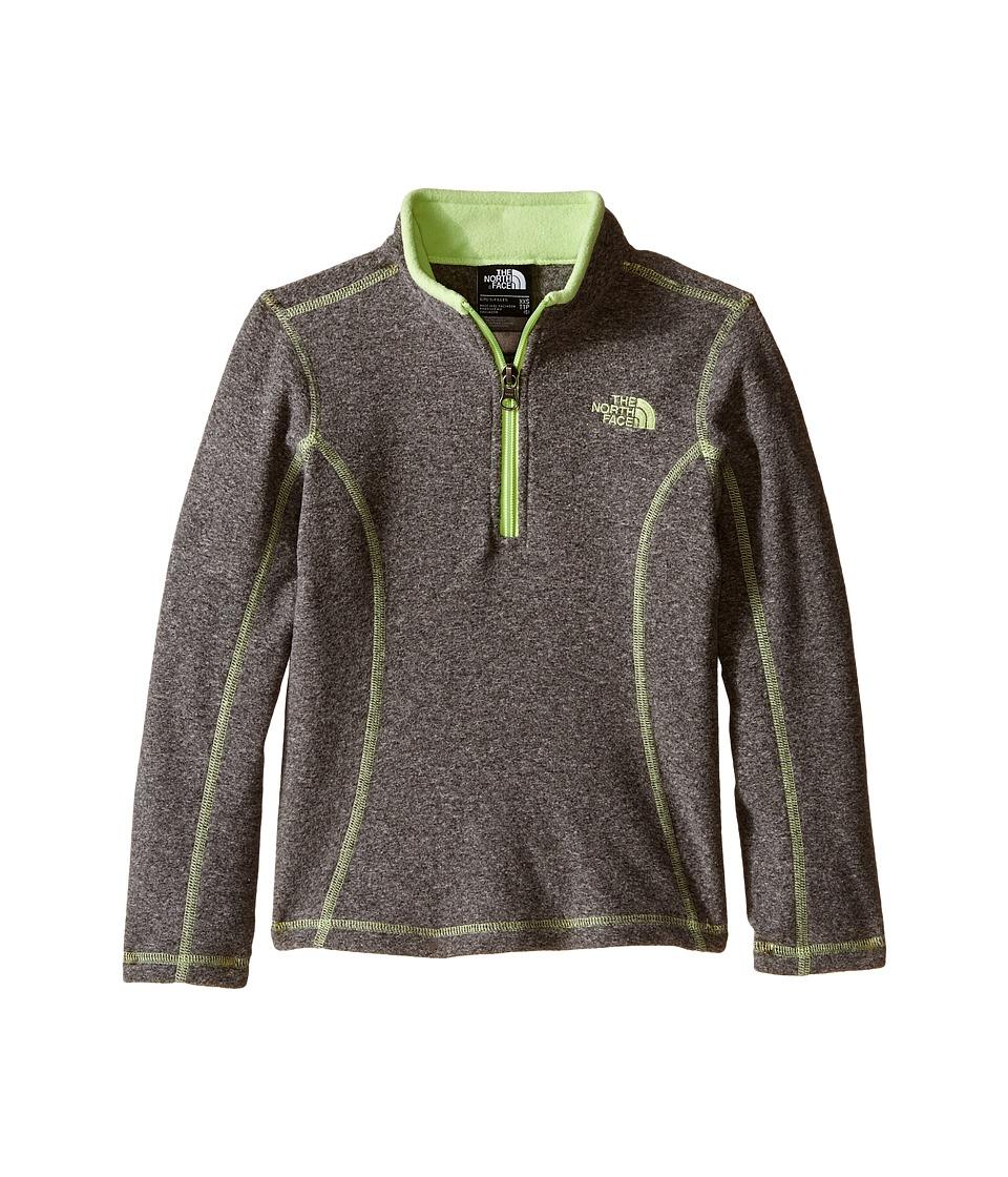 The North Face Kids - Glacier 1/4 Zip (Little Kids/Big Kids) (TNF Medium Grey Heather) Girl's Sweatshirt