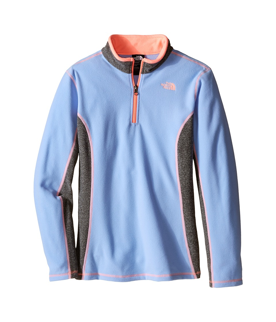 The North Face Kids - Glacier 1/4 Zip (Little Kids/Big Kids) (Collar Blue) Girl's Sweatshirt