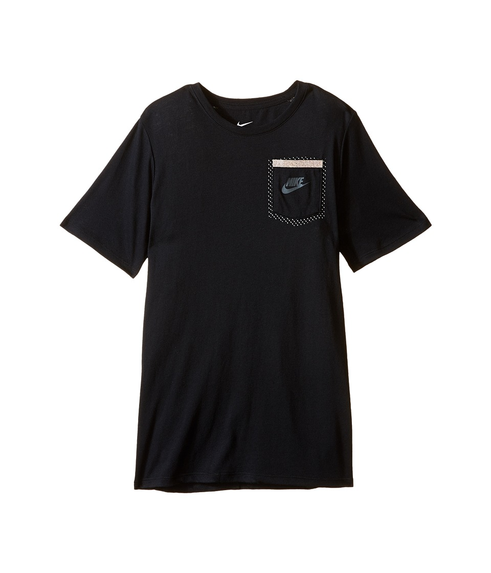 Nike Kids - Tri-Blend Tech Tee (Little Kids/Big Kids) (Black) Boy's T Shirt