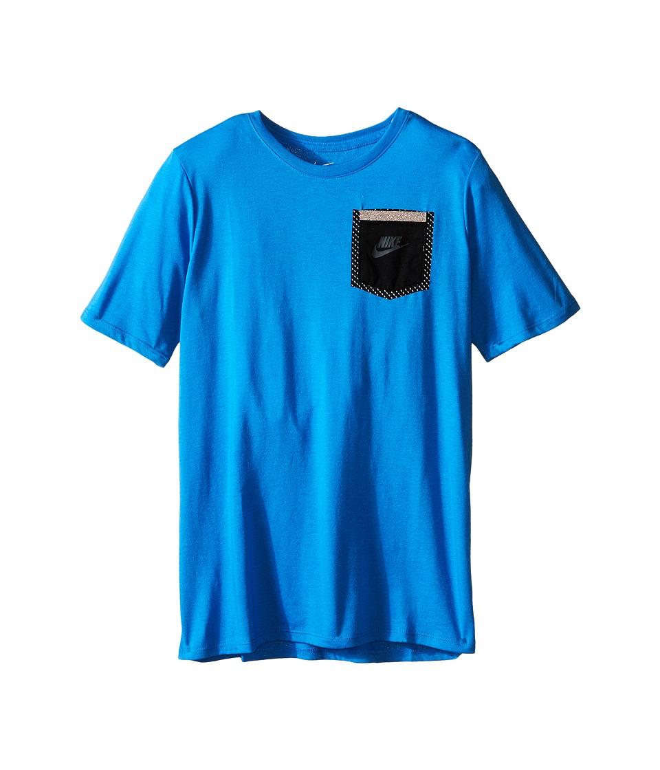 Nike Kids - Tri-Blend Tech Tee (Little Kids/Big Kids) (Light Photo Blue) Boy's T Shirt