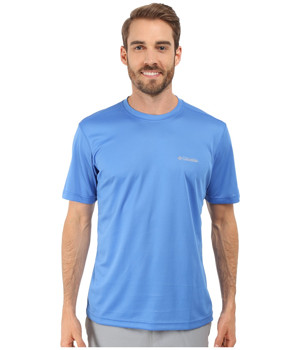 Columbia - Meeker Peak Short Sleeve Crew (Pacific Blue) Men's Short Sleeve Pullover