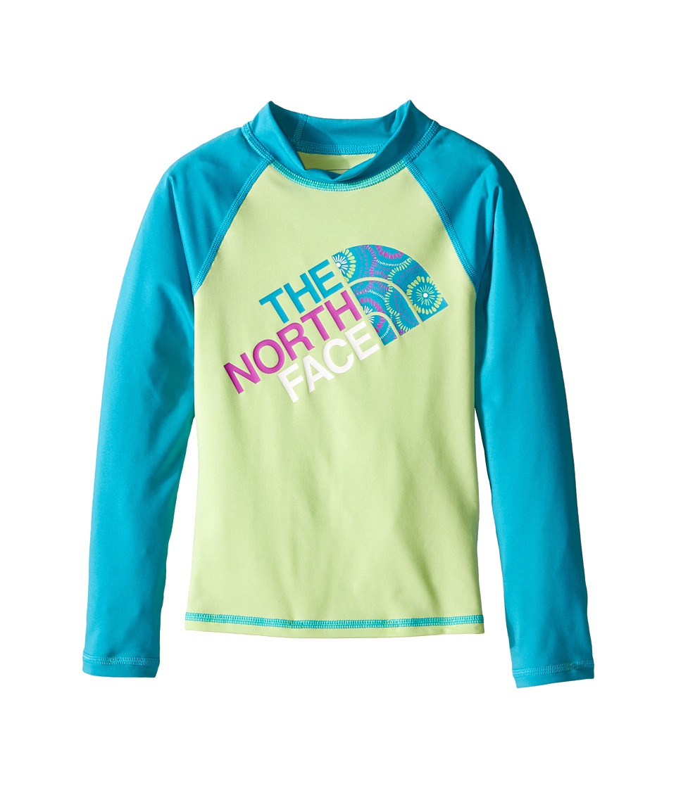 The North Face Kids - Dogpatch L/S Rash Guard (Little Kids/Big Kids) (Budding Green) Girl's Swimwear
