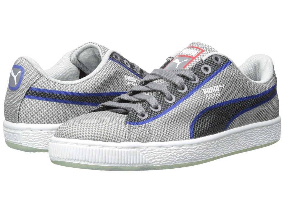 PUMA - Basket Classic Woven (Glacier Gray) Men's Shoes