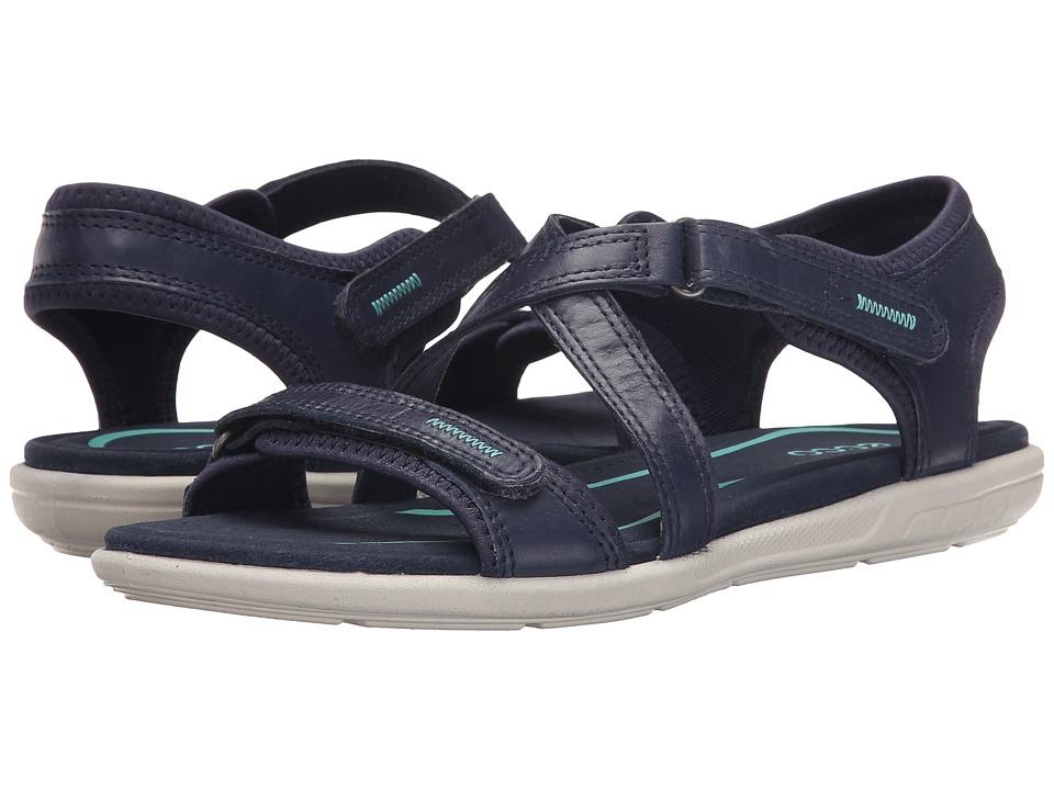 ECCO - Bluma Strap Sandal (Marine) Women's Sandals