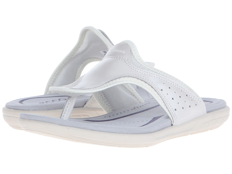 ECCO - Bluma Thong (White) Women's Sandals