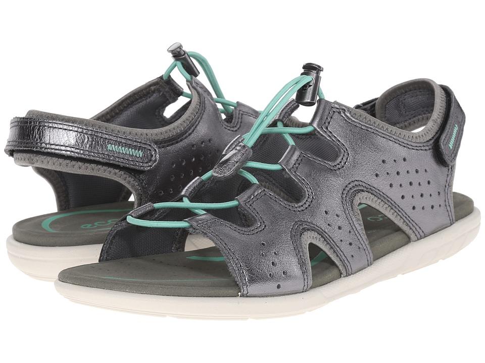 ECCO Bluma Toggle Sandal (Dark Shadow Metallic) Women