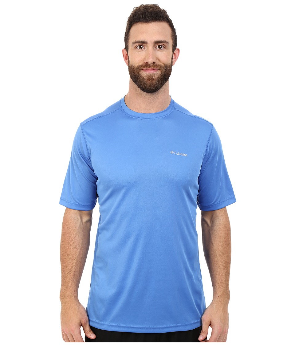 Columbia - Big Tall Meeker Peak Short Sleeve Crew (Pacific Blue) Men's Short Sleeve Pullover