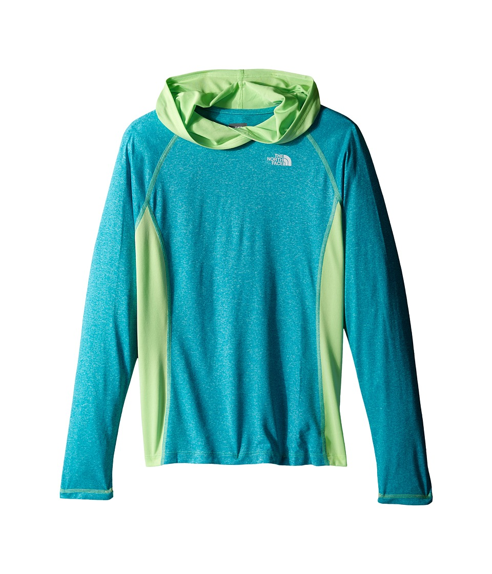 The North Face Kids - Long Sleeve Reactor Hoodie (Little Kids/Big Kids) (Bluebird Heather) Girl's Sweatshirt