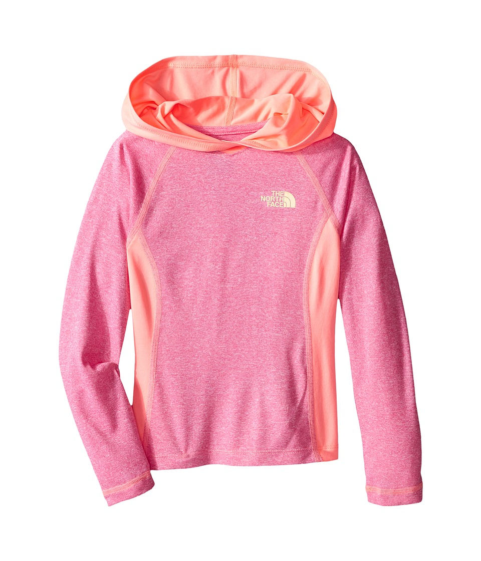 The North Face Kids - Long Sleeve Reactor Hoodie (Little Kids/Big Kids) (Cha Cha Pink Heather) Girl's Sweatshirt