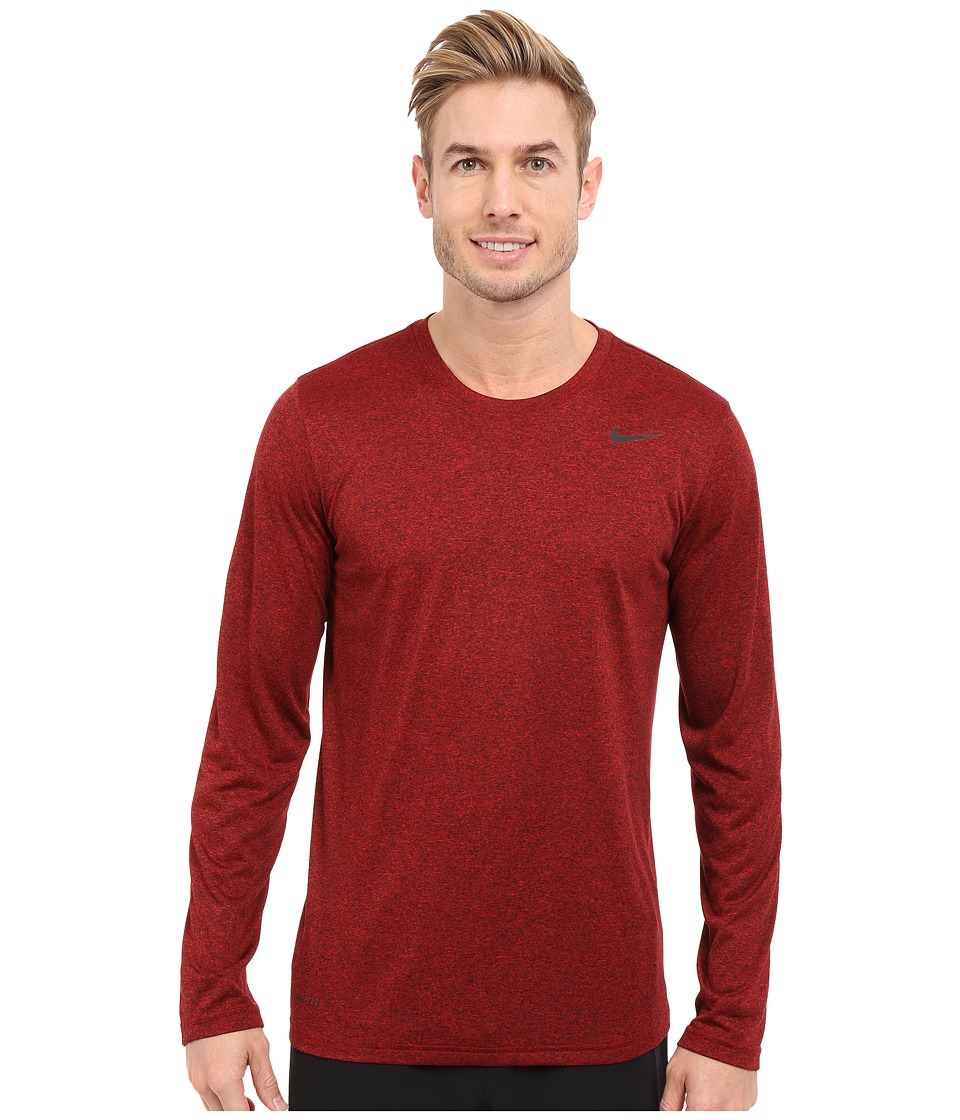Nike - Legend 2.0 Long Sleeve Tee (University Red/Black/Black/Black) Men's T Shirt