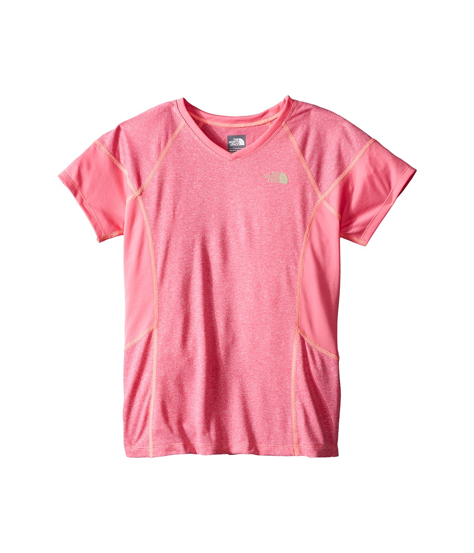 The North Face Kids - Short Sleeve Reactor Tee (Little Kids/Big Kids) (Cha Cha Pink Heather) Girl's Short Sleeve Pullover