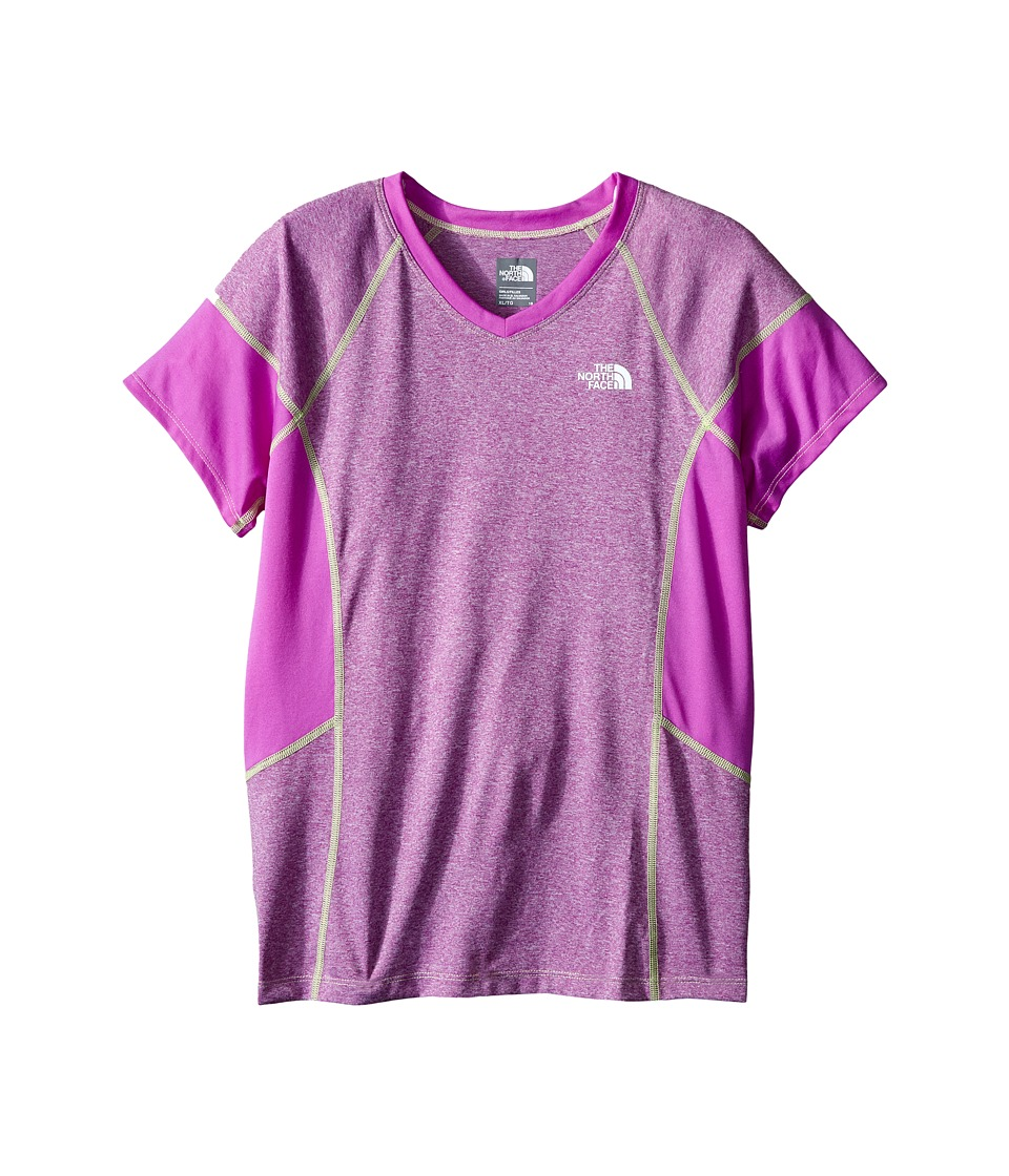 The North Face Kids - Short Sleeve Reactor Tee (Little Kids/Big Kids) (Sweet Violet Heather) Girl's Short Sleeve Pullover