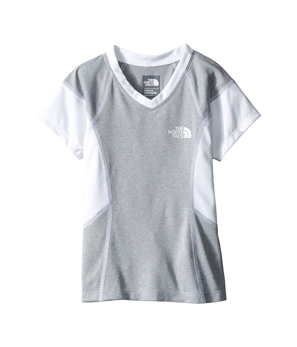 The North Face Kids - Short Sleeve Reactor Tee (Little Kids/Big Kids) (TNF Light Grey Heather) Girl's Short Sleeve Pullover