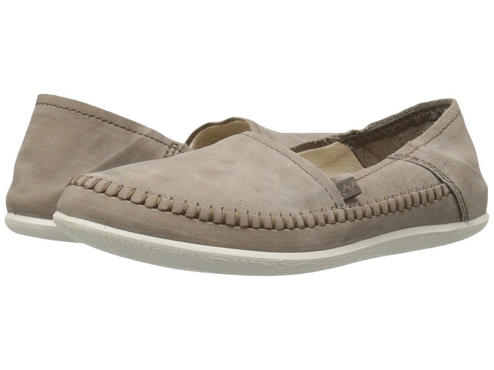 ECCO - Easy L Moc (Stone) Women's Moccasin Shoes