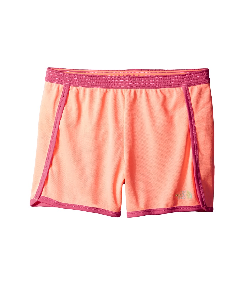 The North Face Kids - Pulse Shorts (Little Kids/Big Kids) (Neon Peach) Girl's Shorts