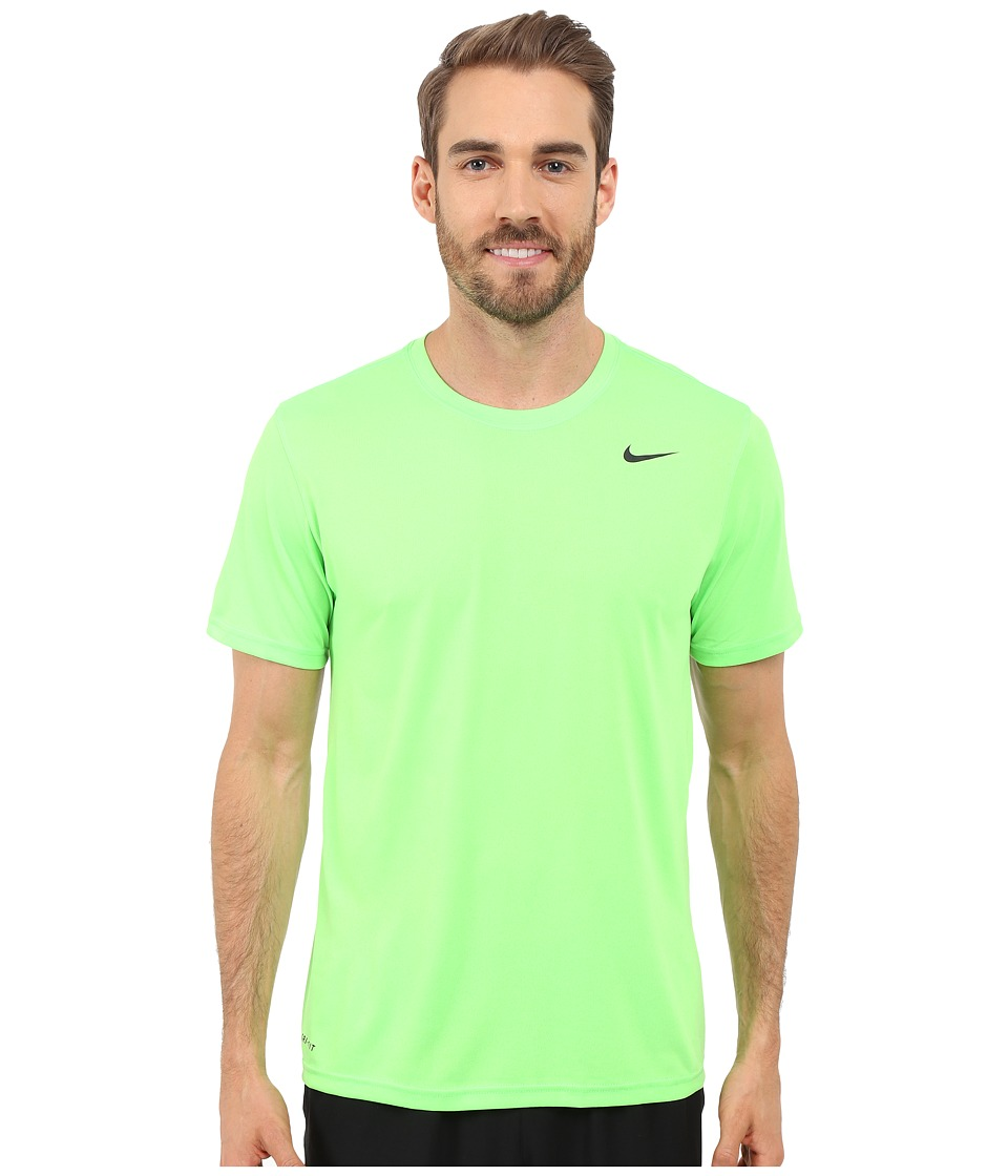 Nike Legend 2.0 Short Sleeve Tee (Voltage Green/Black/Black) Men