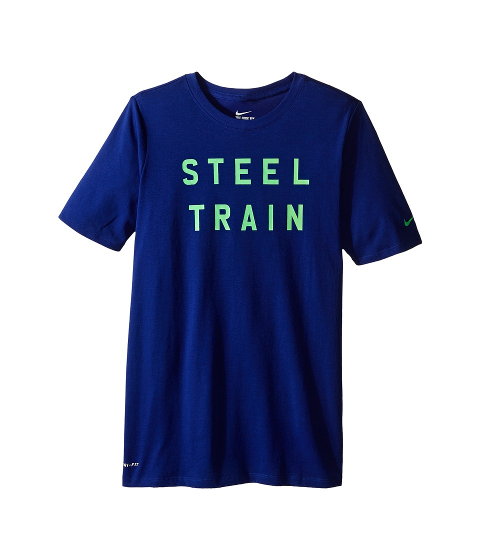 Nike Kids - Dri-FIT Steel Train Tee (Little Kids/Big Kids) (Deep Royal Blue) Boy's T Shirt