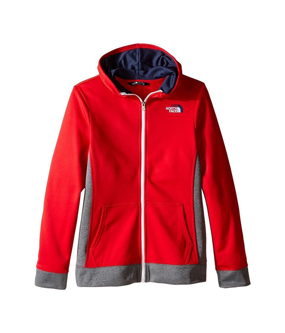 The North Face Kids - Surgent Full Zip Hoodie (Little Kids/Big Kids) (TNF Red) Girl's Sweatshirt