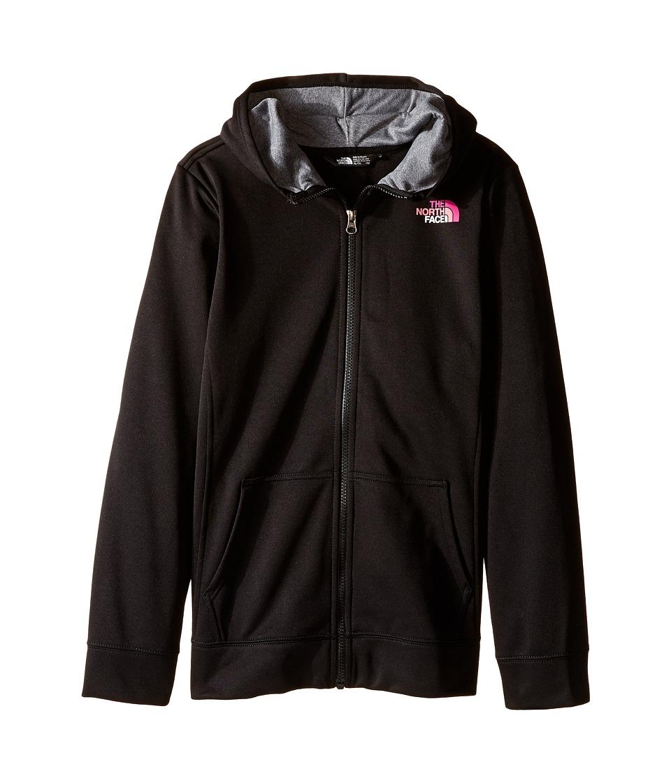 The North Face Kids - Surgent Full Zip Hoodie (Little Kids/Big Kids) (TNF Black) Girl's Sweatshirt