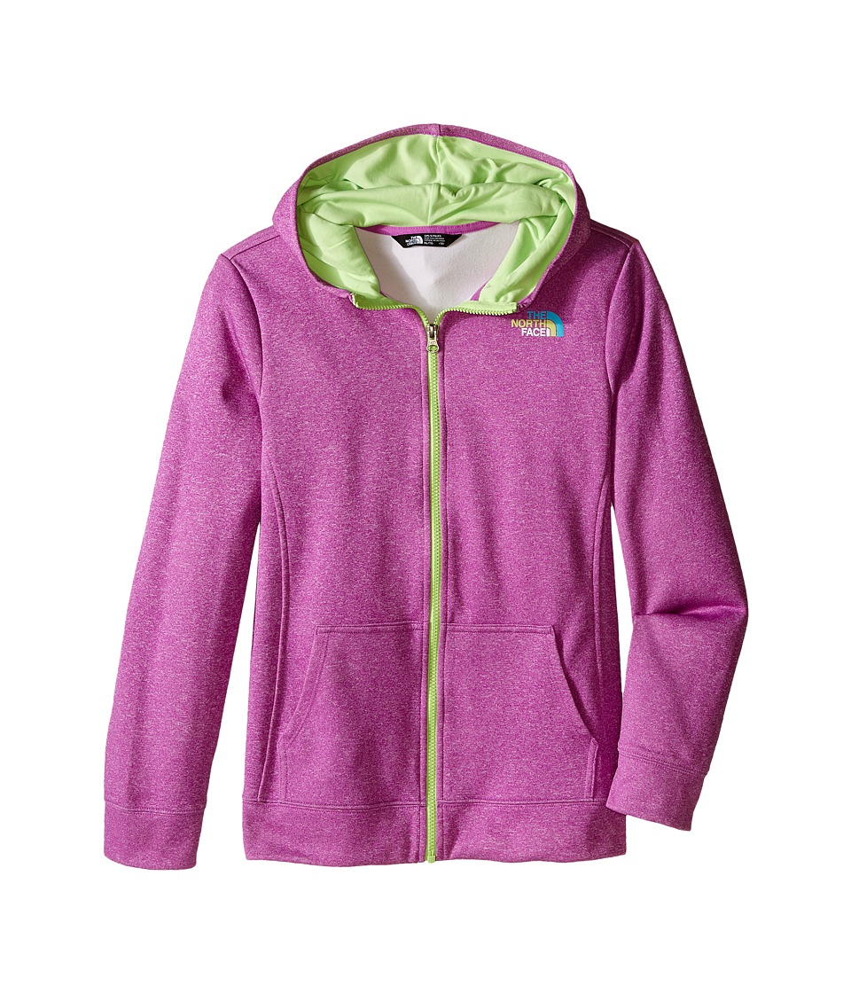 The North Face Kids - Surgent Full Zip Hoodie (Little Kids/Big Kids) (Sweet Violet Heather) Girl's Sweatshirt