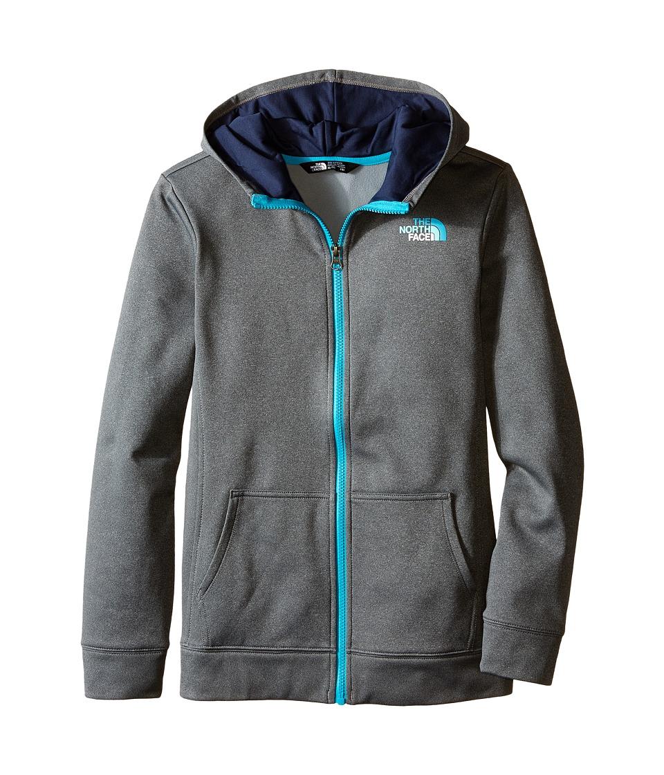 The North Face Kids - Surgent Full Zip Hoodie (Little Kids/Big Kids) (TNF Medium Grey Heather) Girl's Sweatshirt
