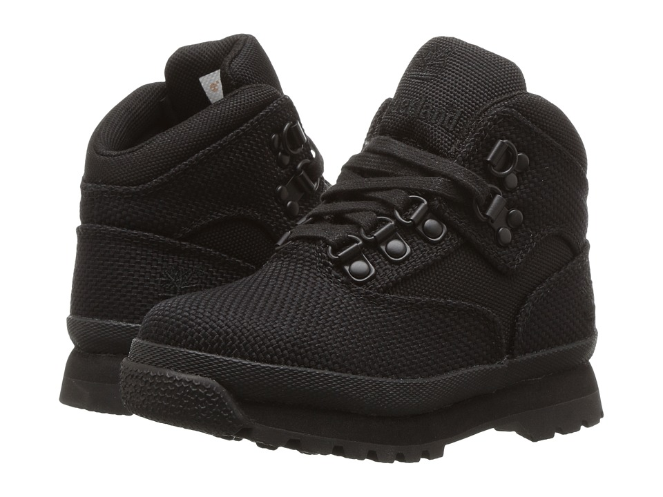 Timberland Kids - Euro Hiker Fabric (Toddler/Little Kid) (Black) Boy's Shoes